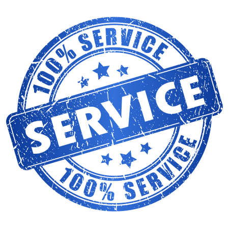 Illustration pour Service stamp - image libre de droit