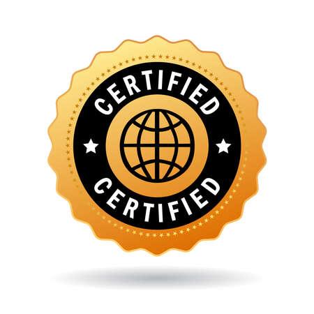 Illustration pour Certified seal - image libre de droit