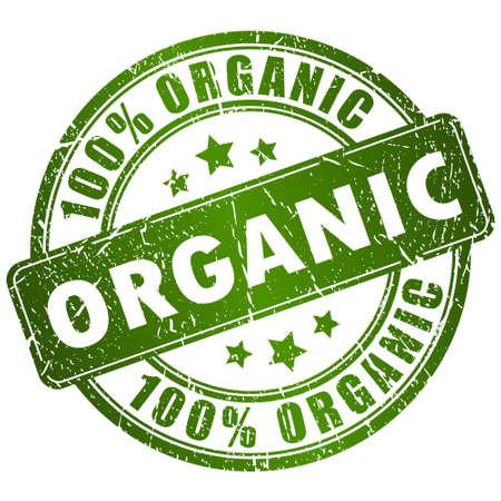 Ilustración de Organic vector stamp - Imagen libre de derechos