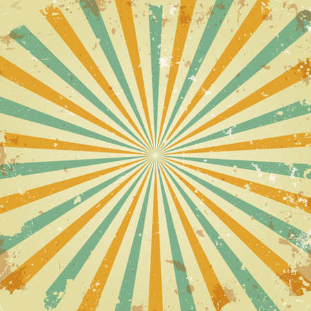 Illustration for Retro rays background - Royalty Free Image