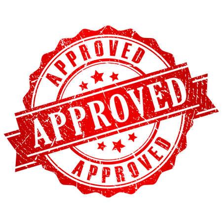Illustration pour Approved vector stamp - image libre de droit