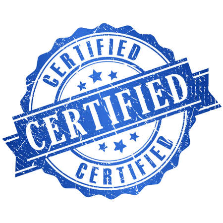 Illustration pour Certified grunge icon - image libre de droit