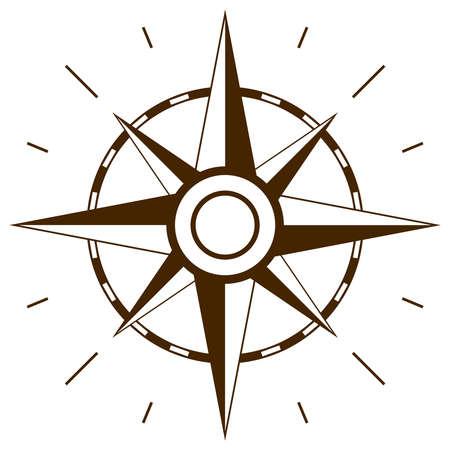 Ilustración de Wind rose symbol - Imagen libre de derechos