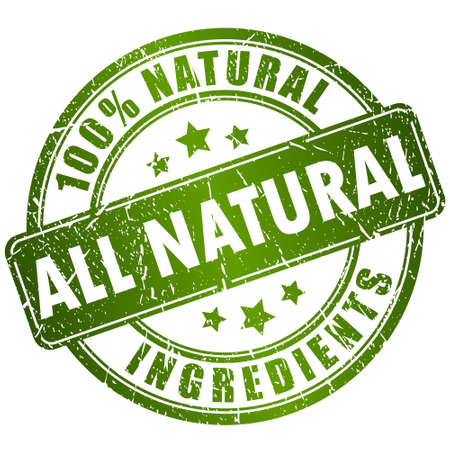 Illustration for Natural ingredients stamp - Royalty Free Image