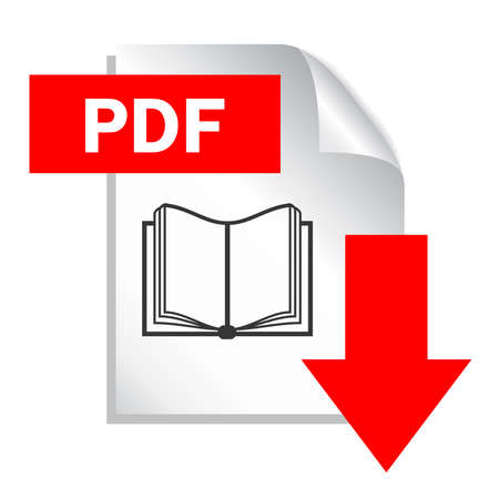 Illustration pour Pdf document download - image libre de droit