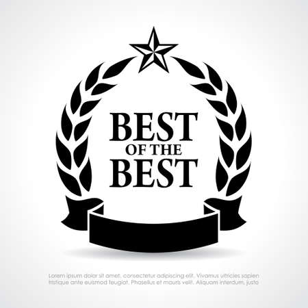 Illustration for Best of the best icon - Royalty Free Image