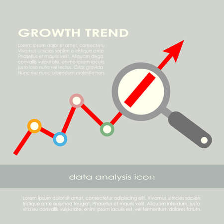 Illustration pour Growth trend poster - image libre de droit