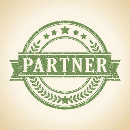 Ilustración de Partner stamp - Imagen libre de derechos