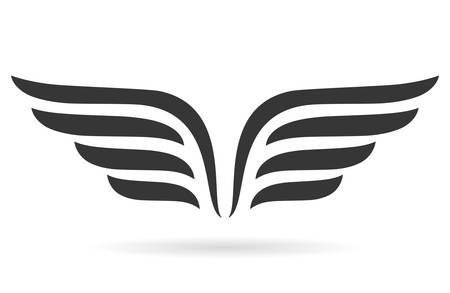 Illustration for Wings symbol - Royalty Free Image