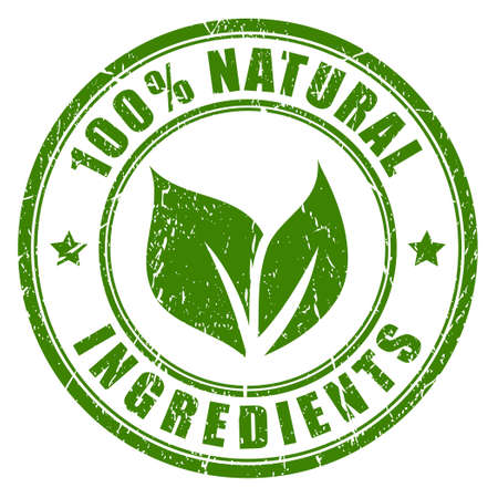 Illustration pour Natural ingredients stamp - image libre de droit