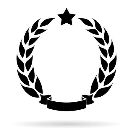 Illustration for Laurel wreath icon - Royalty Free Image