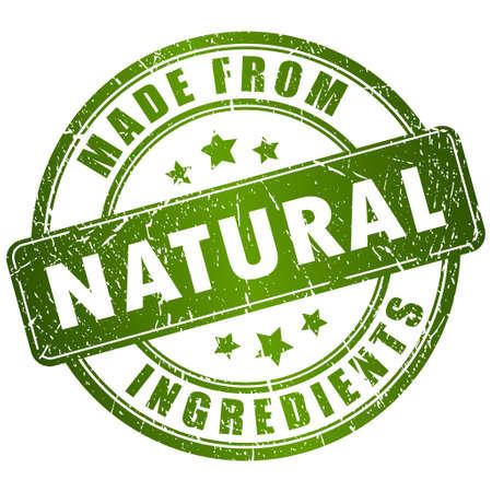 Ilustración de Made from natural ingredients stamp - Imagen libre de derechos