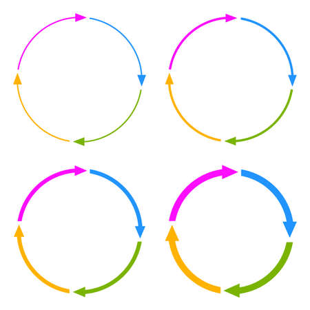 Illustration pour Four segments arrow circle - image libre de droit