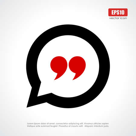 Illustration for Quote icon - Royalty Free Image