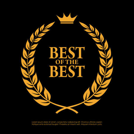 Illustration for Best of the best laurel symbol - Royalty Free Image