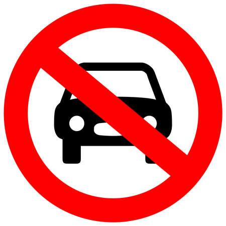 Illustration pour No car sign - image libre de droit