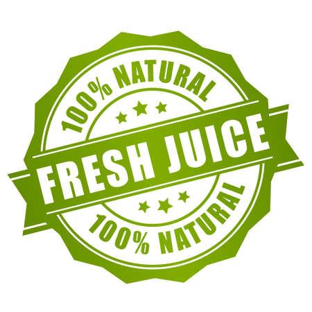 Ilustración de Natural fresh juice label - Imagen libre de derechos
