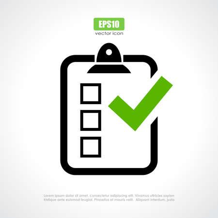 Illustration pour Survey vector icon - image libre de droit