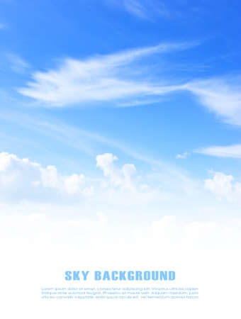 Blue sky background with copyspace