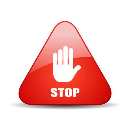Illustration pour Stop vector sign - image libre de droit