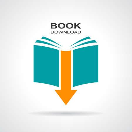 Illustration pour Book download icon - image libre de droit