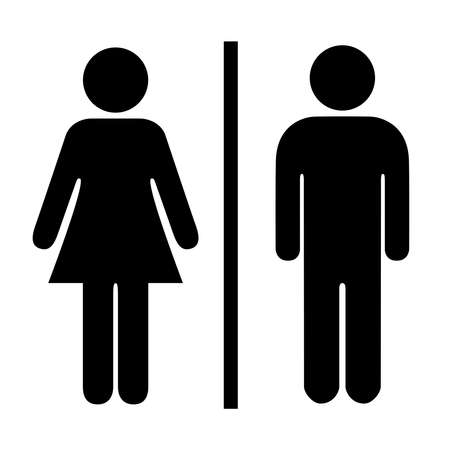 Illustration pour Man and woman pictogram - image libre de droit