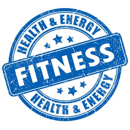 Ilustración de Fitness stamp - Imagen libre de derechos