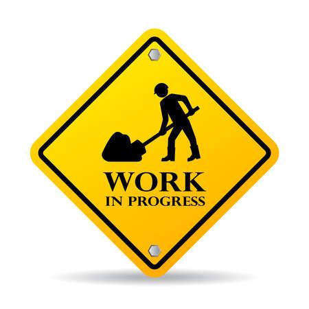 Illustration pour Work in progress sign - image libre de droit