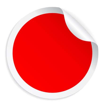 Illustration pour Red round sticker - image libre de droit