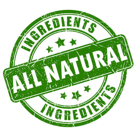Illustration for All natural ingredients vector stamp - Royalty Free Image