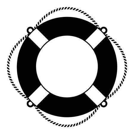 Illustration pour Life ring icon - image libre de droit