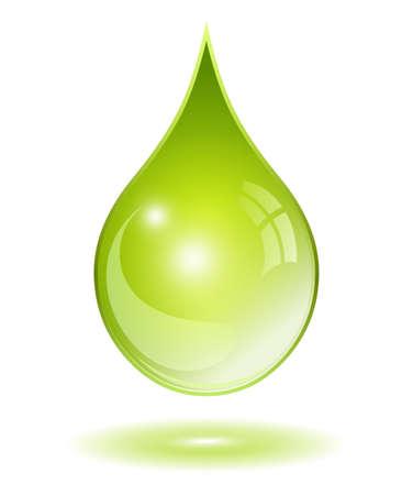 Ilustración de Natural oil drop - Imagen libre de derechos