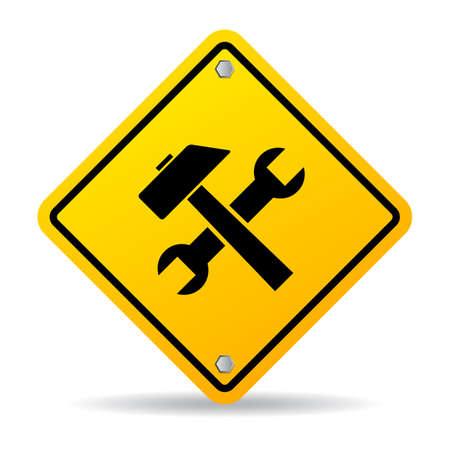 Illustration pour Work tools sign - image libre de droit