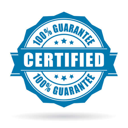 Illustration pour Certified product label - image libre de droit