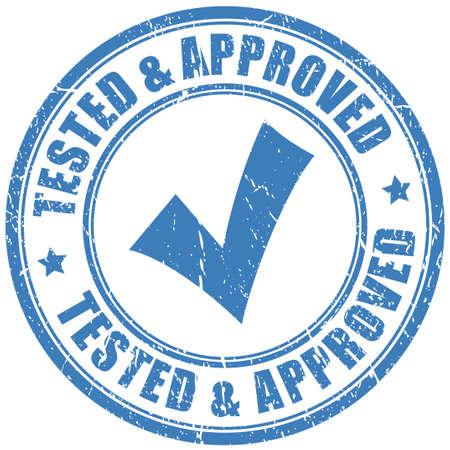 Illustration pour Approved stamp - image libre de droit