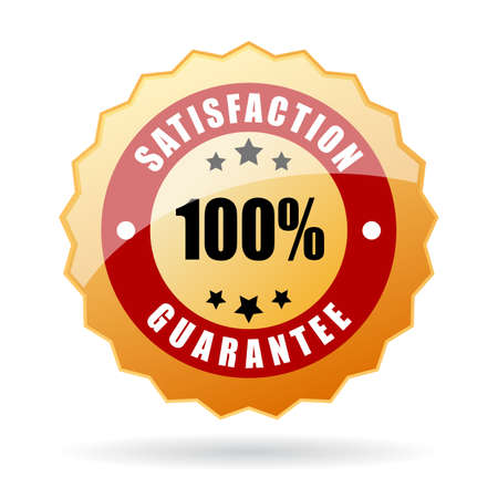 Illustration pour Satisfaction guarantee icon - image libre de droit