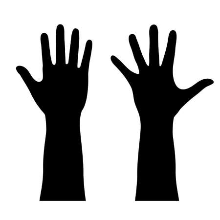 Photo for Human hand outline - Royalty Free Image