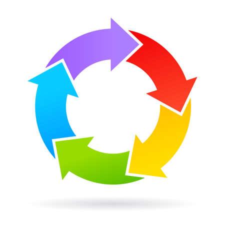 Ilustración de 5 arrows chart wheel - Imagen libre de derechos