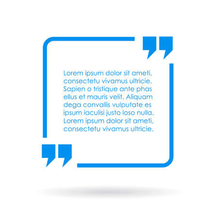 Illustration pour Blue quote text box - image libre de droit
