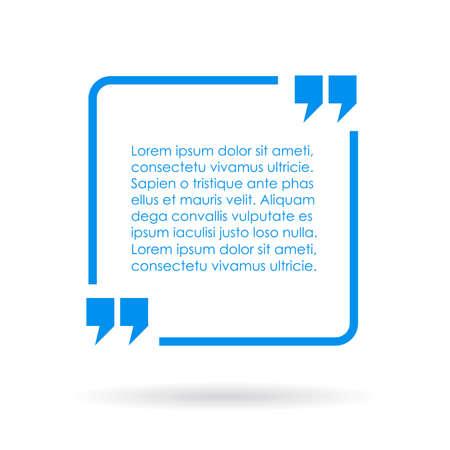 Ilustración de Blue quote text box - Imagen libre de derechos