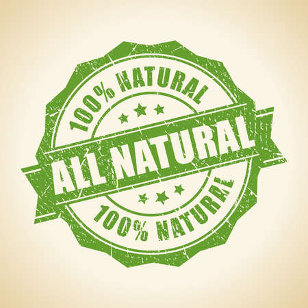 Illustration for All natural green stamp - Royalty Free Image