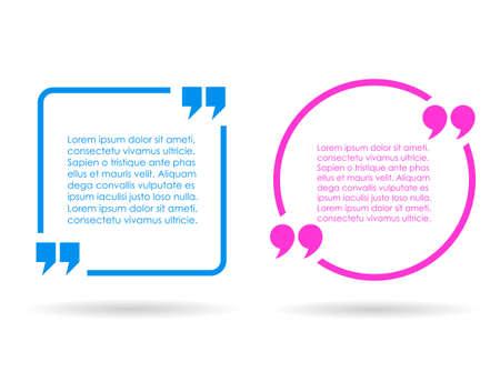 Illustration pour Citation text box - image libre de droit