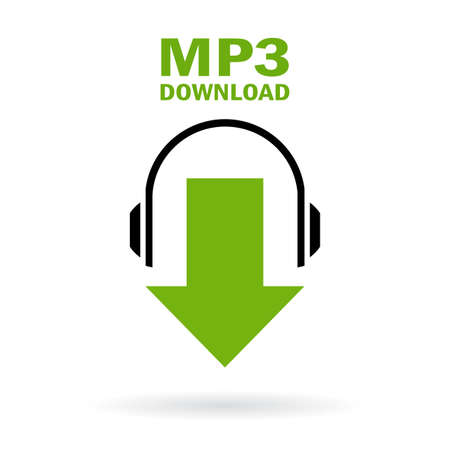Illustration pour Mp3 download icon - image libre de droit