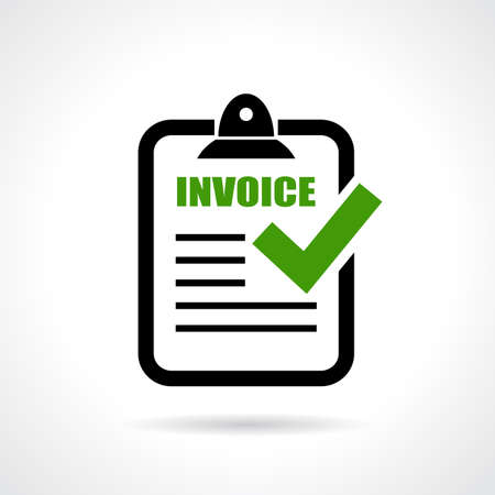 Photo pour Invoice icon - image libre de droit