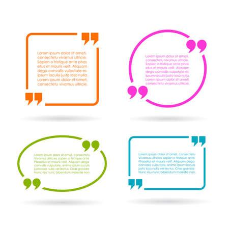 Illustration pour Quote text boxes isolated on white background - image libre de droit