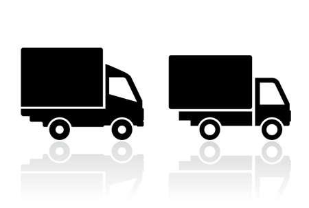 Illustration pour Delivery truck icon - image libre de droit