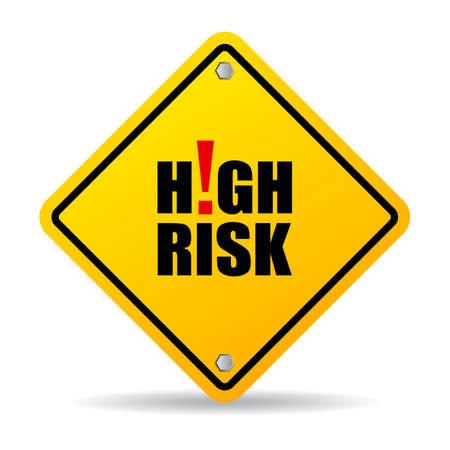 Illustration pour High risk sign - image libre de droit