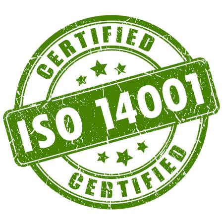 Ilustración de Iso 14001 certified stamp - Imagen libre de derechos