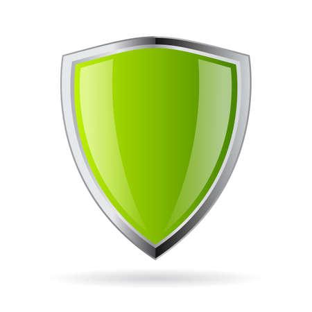 Ilustración de Green shield icon - Imagen libre de derechos