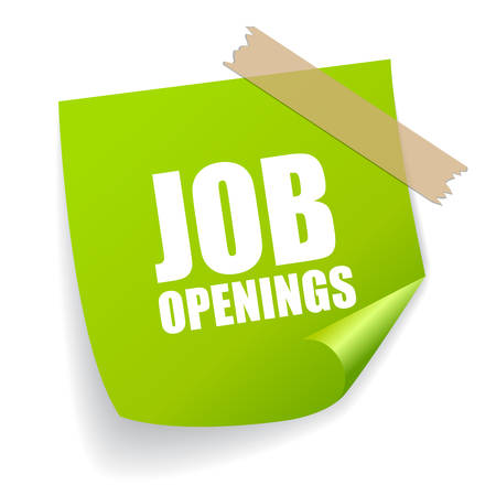 Illustration pour Job openings sticker - image libre de droit